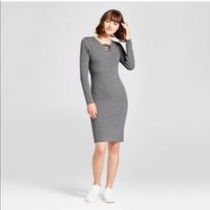 Mossimo Ribbed Sweater Knit Dress